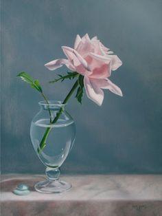 Heaven Sent by Jane Jones, how to paint rose petals in oil