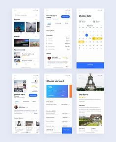 More pages from Travel booking app by Yushun on Inspirationde Ios App Design, Mobile App Design, Web Design, Mobile App Ui, Interface Design, Logo Design, User Interface, Graphic Design, Hotel Booking App