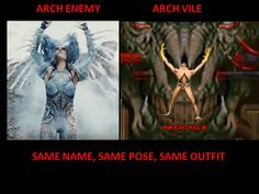 I'm sure Alyssa Whita-Gluz' s stage clothes and the DooM game design was pretty much inspired by the artwork of H.R. Giger.