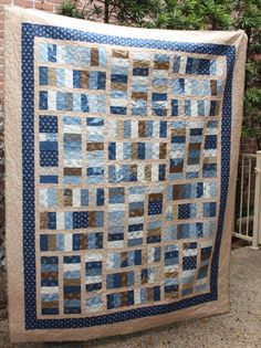 Blue quilt jelly roll