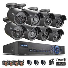 Annke New AHD 8CH 720P Security DVR Video Surveillance System 1TB HDD w/ 8 Weatherproof 720P 100ft Night Vision 36 IR LEDs Indoor/Outdoor AHD High Quality Security Camera System P2P QR Code Scan Easy Remote Setup  Overview     * New Advanced Technology AHD(Analog High Definition), special designed Hybrid DVR & HVR & NVR 3 in 1 system.    * Let you see more clearer, whether daytime or night, it allows to watch & record video in resolution 1280*720p via AHD-M analog cams or 1920 x 1080..