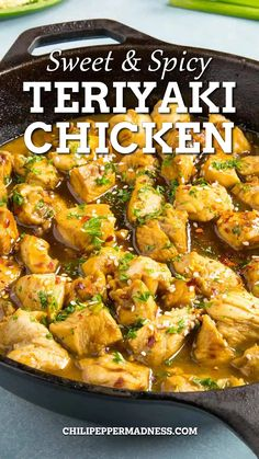 This quick and easy teriyaki chicken recipe builds flavor with a simple 10-minute marinade, then is drenched in homemade teriyaki sauce. Cooks up in 10 minutes! Coming at you with another super quick and easy recipe, my friends, because it's been crazy busy around here. I know you have those crazy-busy days, and on days like those, you don't want to spend a lot of time in the kitchen.