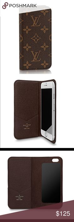 Louis Vuitton iPhone 6/6s Folio Like new. Beautiful LV case with original box and cloth bag. Was a gift and I got an iPhone 6 Plus shortly after receiving it. Loved the convenience of keeping credit cards & cash in it. Louis Vuitton Accessories Phone Case