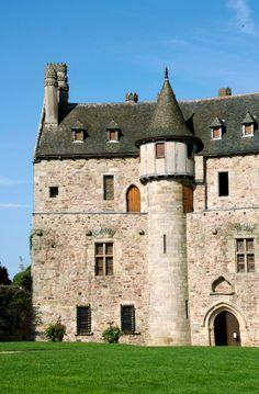 France, Cotes d'Armor, Ploezal, Chateau de la Roche Jagu built in the Xvth century