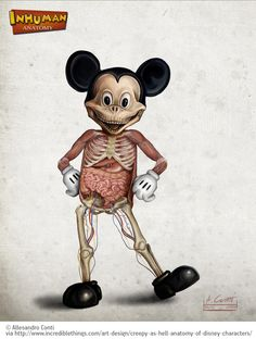 LEGO humans, Super Mario sculptures, Barbie dolls … now the list of anatomically accurate representations of fictional characters gets even longer, with the one and only, Mickey Mouse.