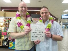 Welcome to Hawaii Jeffrey and Thomas. Those deluxe leis look very colorful and wonderful on you both. Your lei greeter Raychel wishes you both a nice trip! #lethawaiihappen #honolululeigreetings #welcometohawaii