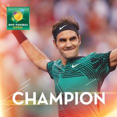 Via BNP Paribas Open:   Champ again! @rogerfederer wins #BNPPO17, def. Wawrinka 6-4 7-5. 2nd trophy in 2017.Earns 5th #IndianWells, 25th Masters 1000 & 90th singles title.…