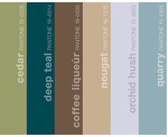 Teal color palette