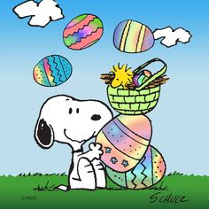 Description: Celebrate Easter and join Snoopy and Woodstock for an Easter Egg Hunt in this Peanuts wall art. Spring-like colors make this canvas ideal for displaying during the Easter season. - Peanut