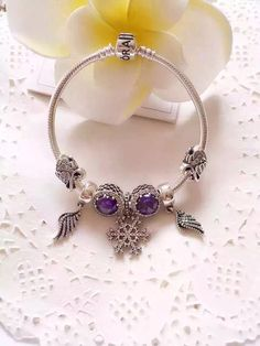 50% OFF!!! $199 Pandora Charm Bracelet Purple. Hot Sale!!! SKU: CB01793 - PANDORA Bracelet Ideas