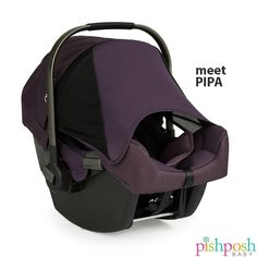 Meet PIPA, the infant car seat from Nuna USA. Aside from having top ratings in safety, its hidden Dream Drape extendable canopy keeps sun and wind away from baby, and stays put with magnets. Pair with the Pipp stroller for the ultimate travel system! Available in 5 colors - most in stock!  http://www.pishposhbaby.com/nuna-pipa-infant-car-seat-w-base1.html