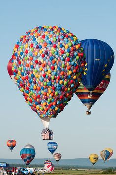 Built to promote the Disney Pixar Up! movie this balloon has a rather unusual basket