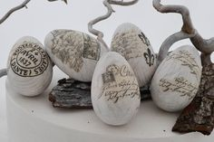 shabby easter eggs
