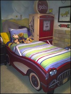 Vintage Corvette car beds