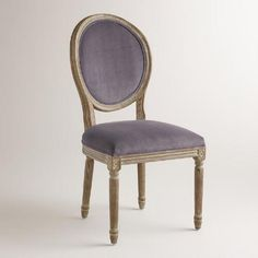 One of my favorite discoveries at WorldMarket.com: Plum Velvet Paige Round-Back Dining Chairs,  Set of 2  $399.98