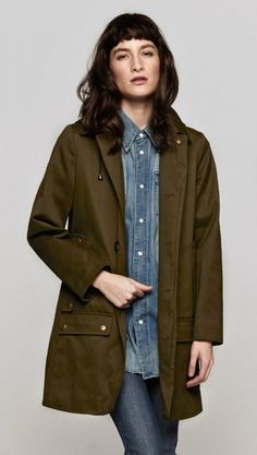 MAC 4 POCKET MILITARY PARKA by A.P.C. @The Dreslyn