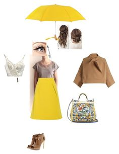 """""""Etno embroidery t-shirt in an autumn rainy day and good mood!"""" by teesuptshirts on Polyvore featuring Dolce&Gabbana, Chloé, MICHAEL Michael Kors, TIBI, Futai and Luminess Air"""