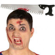 Diadema Serrucho Halloween #accesoriosdisfraz #accesoriosphotocall Halloween Face Makeup, Products, Carnival, Hand Saw, Halloween Night, Make Up, Costume, Head Bands, Fiestas