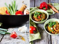 Behyflora - food lifestyle photography - der vegetarische Foodblog mit Pfiff: Vegane One Pot Pasta - Curry Style