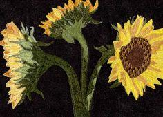 Sunflowers, Art Quilt.