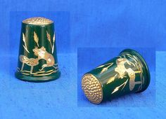 Felix Morel Green Thimble Field Mouse   eBay Jul 23, 2013 / GBP 28.00 / 1,400.92 RUB Needle Book, Sewing Tools, Sewing Accessories, Display Case, Vintage Sewing, Scissors, Candle Holders, Pearls, Antiques