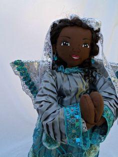 Handmade ooak art cloth doll African American by Koziooakdolls, $135.00