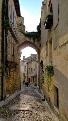 Quaint Street in St-Émilion, France