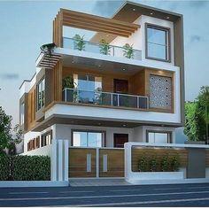 House Outer Design, Best Modern House Design, Modern Exterior House Designs, House Front Design, Indian House Exterior Design, Modern House Facades, Modern Architecture House, Modern House Plans, Architecture Design