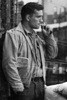 Jack Kerouac /photo Alan Ginsberg 1953 Clique na foto para garantir livros da Beat Generation.