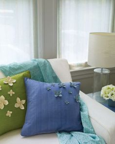 Floral Pillows with Ultrasuede Petals How-To