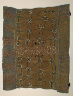 Africa | Cape from the Xhosa people of South Africa | Cotton, beads, horn and metal bangles | ca. 1925 - 1950