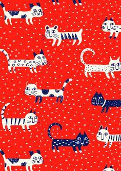 pattern by Minakani #cat #pattern #minakani