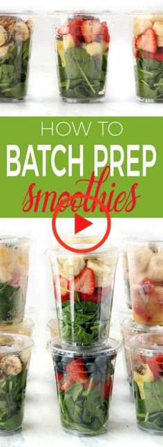 Simple tips and tricks on how to batch prep grab n' go smoothies quickly. Make them in advance, and enjoy them for the week, or even the whole month! tips for teens tips in tamil tips tricks for face for hair for makeup for skin Smoothie Prep, Freezer Smoothie Packs, Smoothie Fruit, Smoothie Detox, Raspberry Smoothie, Apple Smoothies, Smoothie Recipes, Detox Soup, Diet Detox