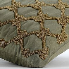 Designer Earth Green Pillows Cover, Gold Beaded Lattice T... https://www.amazon.com/dp/B016H8WCIQ/ref=cm_sw_r_pi_dp_x_YHlbyb4R9BTND