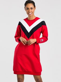 Značkové športové šaty červené Cold Shoulder Dress, Dresses With Sleeves, Long Sleeve, Model, Products, Fashion, Moda, Sleeve Dresses, Long Dress Patterns