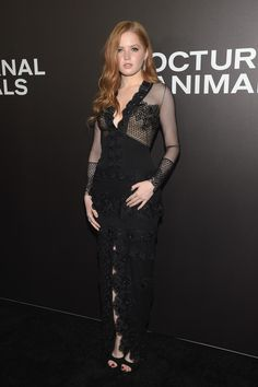 """Ellie Bamber attends the New York Premiere of Tom Ford's """"Nocturnal Animals"""" at The Paris Theatre on November 17, 2016 in New York City."""