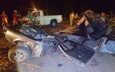 Homem morre em grave acidente em Caravelas; carro foi partido ao meio