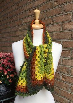 The Crochet Express: 2016 NatCroMo Blog Tour   Featured Designer: Edie Eckman   Pattern: Modern Granny Scarf   #NatCroMo #blogtour #crochet #crochetdesigner