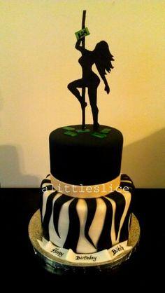 Stripper cake! Follow @ alittleslice on instagram!