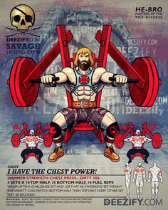 chest exercise: hammer strength chest press with heman