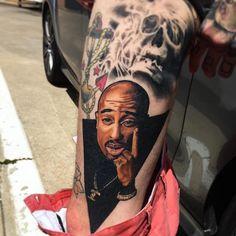 fully healed, full color tupac portrait 👽 #inkmasterseason8