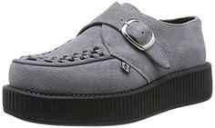 T.U.K. Viva Low Round Creepers, Damen Sneaker  Grau Grau (Grau) 37 - http://on-line-kaufen.de/t-u-k/37-eu-t-u-k-viva-low-round-creepers-damen-sneaker