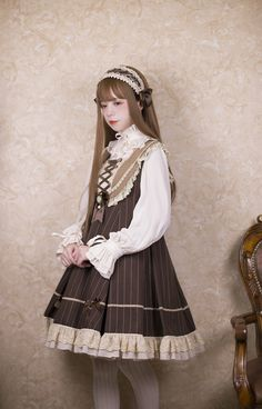 New Release: DrunkCoco 【Tiramisu】 Lolita JSK ◆ Great Choice For Autumn and Winter Lolita Coords >>> https://www.lolitawardrobe.com/drunkcoco-tiramisu-lolita-jumper-dress_p3121.html