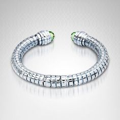 Charles Krypell Green Amethyst #Bracelet in Sterling Silver and 14K #Gold