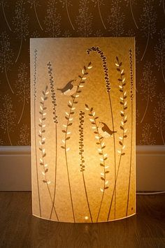 Paper Cut Lamp created by Hannah Nunn of Radiance Lighting.
