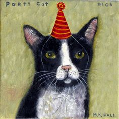 Melinda K. Hall:Party Cat #106