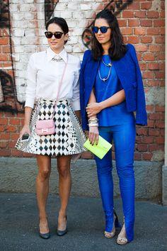 New York Fashion Week. Street style friends