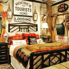 🌟Tante S!fr@ loves this📌🌟 + 20 Rustic House Interior Ranch Bedrooms 44 Lodge Bedroom, Bedroom Decor, Bedroom Ideas, Cabin Bedrooms, Ranch House Remodel, Lodge Look, Cabin Interiors, The Ranch, Home Remodeling