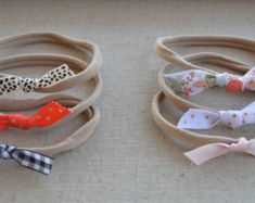 SAVE and choose any TWO Felt bow headbands nylon by Gracefulhalos