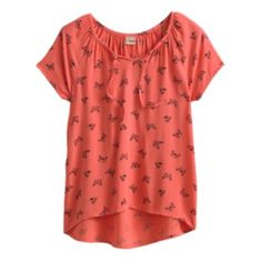 Mudd Butterfly Hi-Low Peasant Top - Girls 7-16